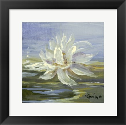 Framed Water Lillies 3 Print