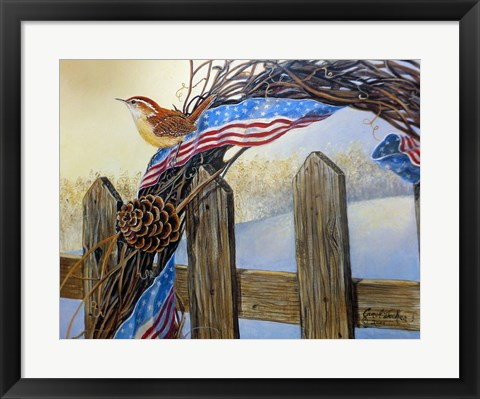Framed Old Glory Morning Print