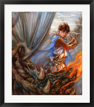 Framed Dragon Fighter Print