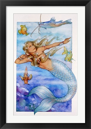 Framed Mermaid 2 Print