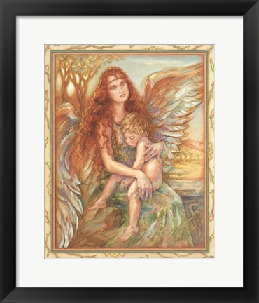 Framed Sheltering Wings Print