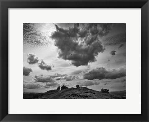 Framed Hill Top Landscape Print