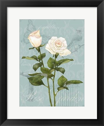 Framed Cream Rose II Print