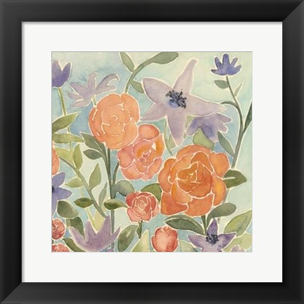 Framed Flowers for Lilly II Print