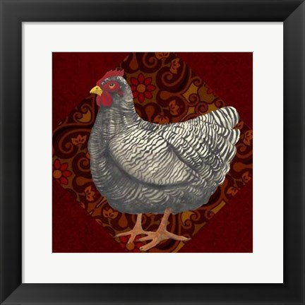 Framed Yard Bird IV Print