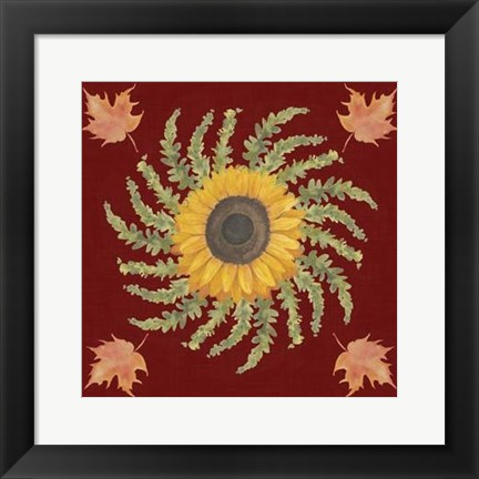 Framed Autumn Floral I Print