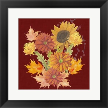 Framed Autumn Floral II Print
