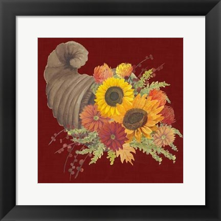 Framed Autumn Floral III Print