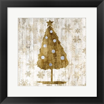 Framed Sophisticated Christmas I Print