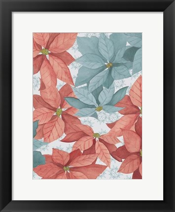 Framed Christmas Poinsettia II Print