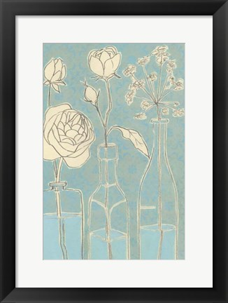 Framed Apothecary Flowers I Print