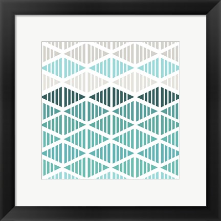 Framed Tribal Arrows I Print