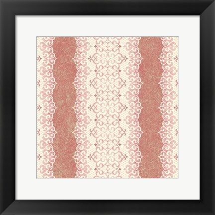 Framed Downton Stripe III Print
