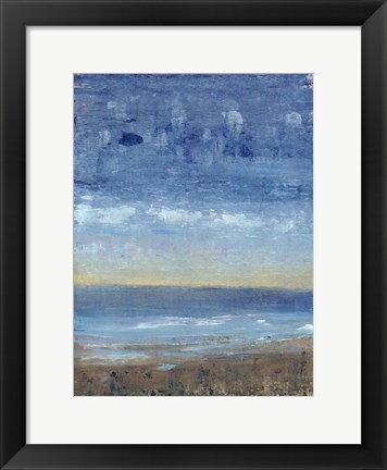 Framed Calm Surf I Print