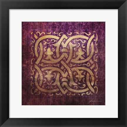 Framed Antiquity Tiles II Print