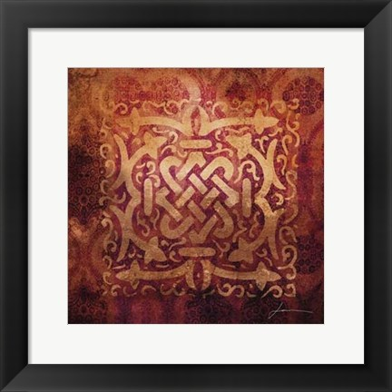 Framed Antiquity Tiles IV Print