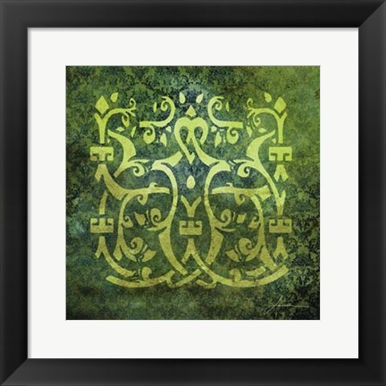 Framed Antiquity Tiles VI Print
