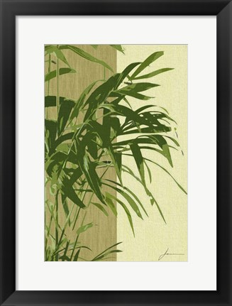 Framed Painted Contrast Leaves I Print