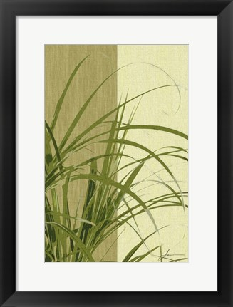 Framed Painted Contrast Leaves III Print