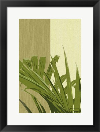 Framed Painted Contrast Leaves IV Print