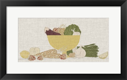 Framed Contour Fruits & Veggies III Print