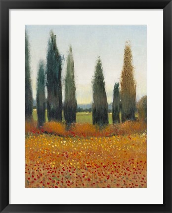 Framed Cypress Trees I Print