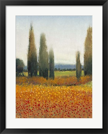 Framed Cypress Trees II Print