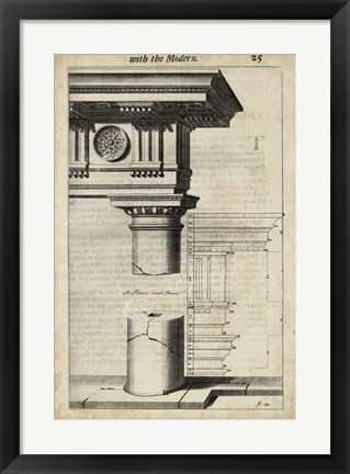 Framed Ancient Architecture IV Print