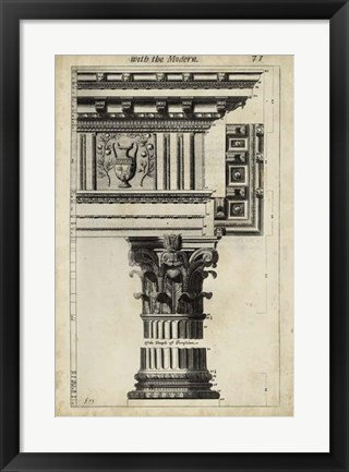 Framed Ancient Architecture VII Print