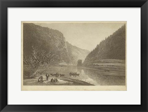Framed Delaware Water Gap Print