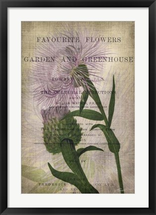 Framed Favorite Flowers II Print