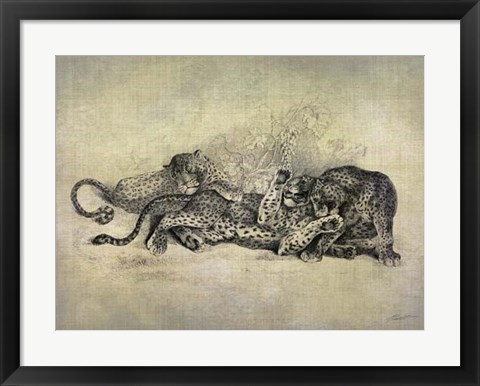 Framed Big Cats I Print