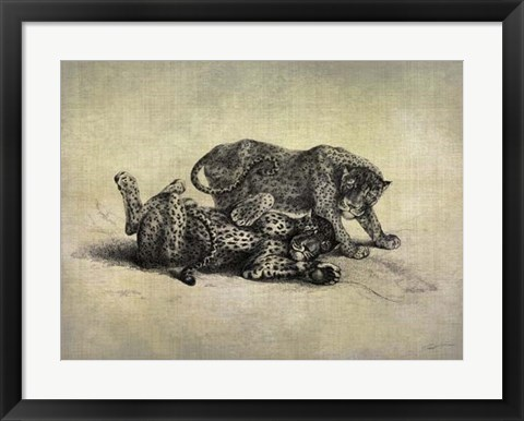 Framed Big Cats II Print