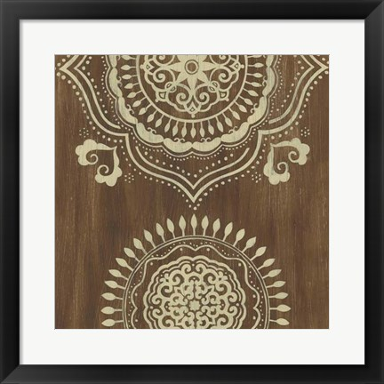 Framed Weathered Mandala II Print