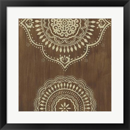 Framed Weathered Mandala III Print