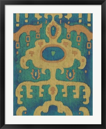 Framed Sunset Ikat I Print