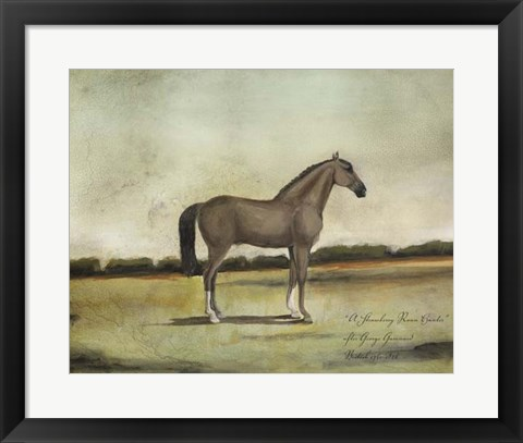 Framed Strawberry Roan Hunter Print