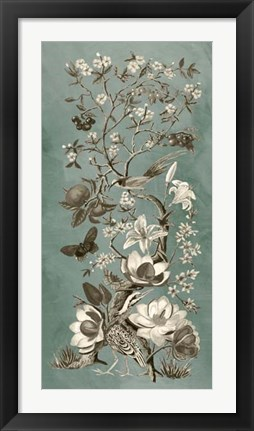 Framed Chinoiserie Patina II Print