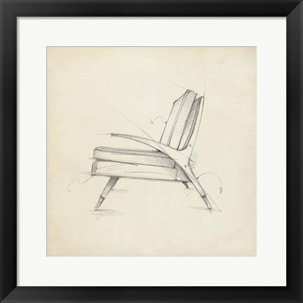 Framed Mid Century Furniture Design II Print