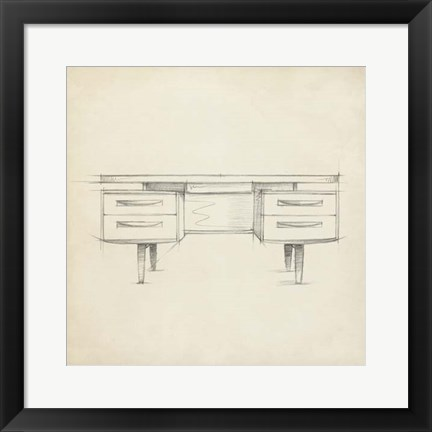 Framed Mid Century Furniture Design VI Print