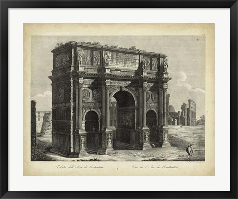 Framed Arco di Constantino Print