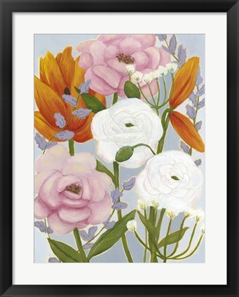 Framed Morning Bouquet II Print