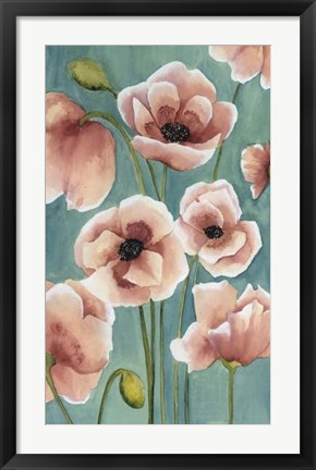 Framed Freckled Poppies II Print