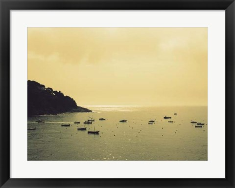 Framed Sunset Harbour I Print