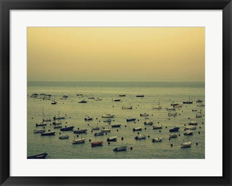 Framed Sunset Harbour II Print