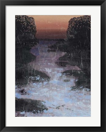 Framed Twilight Canal I Print