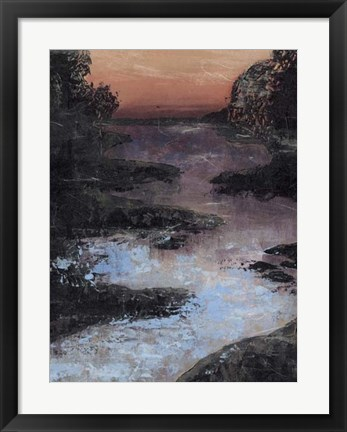 Framed Twilight Canal II Print