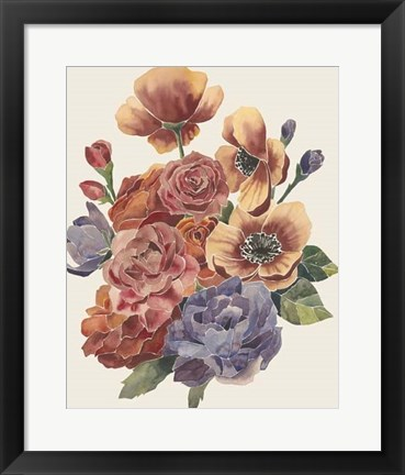 Framed Stained Glass Posy II Print
