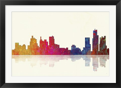 Framed Boston Massachusetts Skyline 1 Print