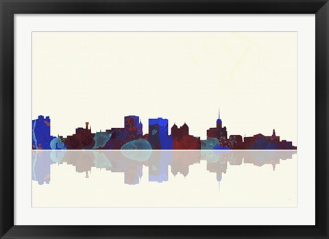 Framed Buffalo New York Skyline 1 Print